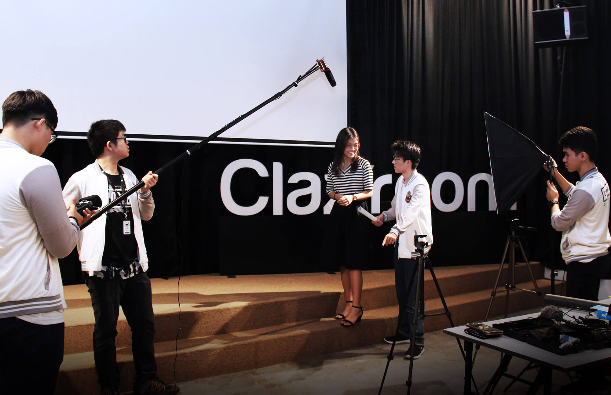 clazroom digital film production shooting scene